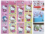 Sanrio Hello Kitty Wall Sticker Decals Cling Set