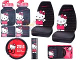 Hello kitty Car Seat Covers Accessories Compleate -8PC : Core