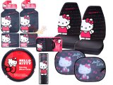 Hello kitty Car Seat Covers Accessories Compleate -10PC : Core
