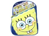 Sponge Bob School Backpack / Bag :16in Large -Winner Face
