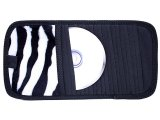 Black & White Zebra 10 CD  Visor Organizer
