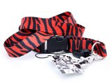 Zebra Black& Red Animal  Key/ID Lanyard