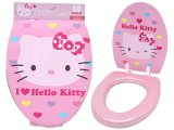 Sanrio Hello Kitty Pink Toilet Seat Cover : 2 Face Design