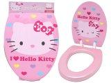 Sanrio Hello Kitty Pink Toilet Seat Cover : 2 Face Design