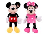 Disney Mickey & Minnie Mouse Plush Figure Doll Set - Jumbo 26in