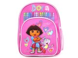 Dora The Explorer Dora & Boots School Backpack ,Toddler Small Bag-10in Pink