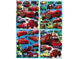 Disney Cars Mcqueen Removable Wall / Window Stickers Set of 4