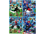 Super Mario Kart Plastic Stickers Set - 4 Sheets