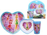 Disney Tinkerbell Fairies Kids Dining - 3pc Dinner ware Set Purple