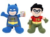 DC Comic Super Hero Batman & Robin Plush Doll Set / Toy -14in
