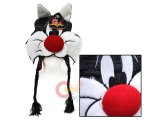 Looney Toon Sylvester Lapland Hat : Beanie with Ear Flap (Teen-Adult)