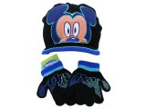 Disney Mickey Mouse  Kids Gloves, Beanie Set : Big Face w/ Cap