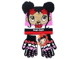 Ni Hao Kai-Lan Gloves, Beanie Set w/ Furry Ball