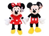 Disney Mickey & Minnie Mouse Plush Doll -Classic 15""