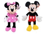 Disney Mickey & Minnie Mouse Plush Doll -Club House 15""