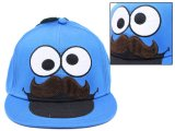 Sesame Street Cookie Monster Mustache Flex Fit Hat:Teen/Adult