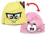 Nick Jr. Spongebob Patrick Beanie -Reversible