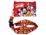 Disney Mickey Mouse  & Friends  Lanyard with Coin Wallet