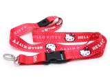 Sanrio Hello Kitty  Key Chain- ID Holder Lanyard : Pink Polka Dots