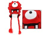 Yo Gabba Gabba Muno Plush Lapland Hat : Beanie with Ear Flap (Teen-Adult)