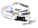 San Diego Chargers  Lanyard NFL Key Chain -White