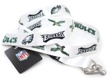 Philadelphia Eagles Lanyard NFL Key Chain -White