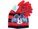 Disney Mickey Mouse  Kids Gloves, Beanie Set : Red
