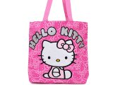 Sanrio Hello Kitty Tote Shoulder Bag -Pink Glittering Face