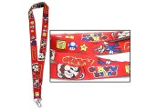 Super Mario Key Chain / Lanyard / ID Holder : Fabric