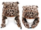 Leopard Lapland Hat Bomber Hat w/Ear  : (Teen-Adult)