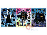 Marvel Bat Man Stickers Cling Set of 3 - Removable Wall Window