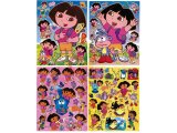 Dora The Explorer Dora & Boots Stickers Cling Set of 4 - Removable Wall Window