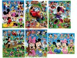 Disney Mickey Mouse & Friends Stickers Cling Set of 6 - Removable Wall Window