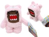 "Domo-Kun in Pink Bear Costume Clip on Plush Doll -5"" Limited Edition"