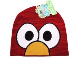 Sesame Street Elmo Big Face Beanie Hat :Teen/Adult