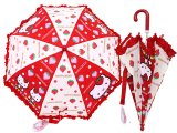Sanrio Hello Kitty Auto  Umbrella  w/:Lace :Kids Size