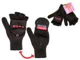 Domo Kun Knitted Fingerless Glove w/Mitten Top (One Size )