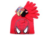 Marvel Spider Man  Gloves,Beanie 2PC Set - Red Face