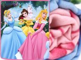 Disney Princess  Fleece Throw Blanket 50x60