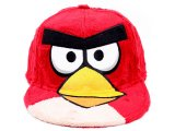 Rovio Angry Birds  Plush Flat Bill Cap Hat (Adjustable) Mens Size