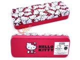 Sanrio Hello Kitty Metal Pencil Case -Face Red Bows