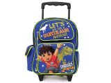 Go Diego Go with Dinosaur Rolling Schoo Backpack, Roller Bag:12in  Medium
