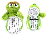 Sesame Street Oscar Plush Backpack 14in Plush Doll Bag