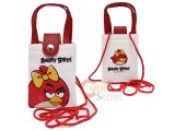Rovio Angry Birds Multipurpose Pouch Bag  w/Shoulder Strap : Red Bird Bow