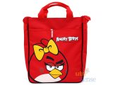 Rovio Angry Birds Canvas Tote Bag 13in Shoulder Bag -Red Bird Bow
