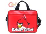 Rovio Angry Birds Fuax Leather Messenger Bag / Briefcase : Red Bird Logo