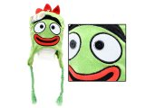 Yo Gabba Gabba Brobee Plush Lapland Hat : Beanie with Ear Flap (Kids -Adult)