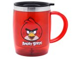 Rovio Angry Birds Stainless Grip Handle Tumbler Coffee Mug -Red Bird