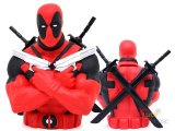 Marvel  Deadpool Bust Figure Coin Bank