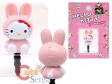 Sanrio Hello Kitty Earphones  Headphones Cap Topper :Bunny